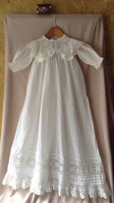 Antique Victorian French Lace Hand Made Baby's / Child's Christening Gown