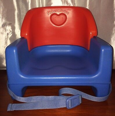 1990 Fisher Price Grow With Me Toddler Booster Seat Red & Blue Clean 90's Babies