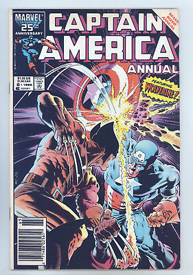 Captain America Annual #8 FN Zeck, Beatty, Classic Wolverine Cover & Story
