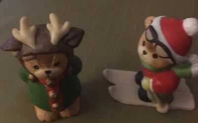 Vintage Enesco Lucy and Me 1983,1987 Christmas Ornaments