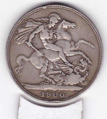 1900  Queen Victoria Large Crown / Five Shilling Coin  from Great Britain