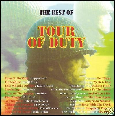 TOUR OF DUTY CD 60's YARDBIRDS~BYRDS~CHICAGO~STEPPENWOLF~DONOVAN~ZOMBIES~ *NEW*