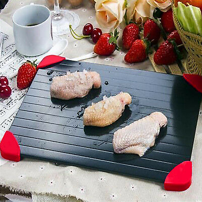 Aluminum Thawing Plate Fast Defrosting Tray Thaw Defrost Meat or Frozen Food USA
