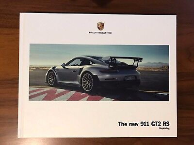 New 2018 PORSCHE 991 911 GT2 RS 92-Page Exclusive Hard Cover Book & Poster GT2RS