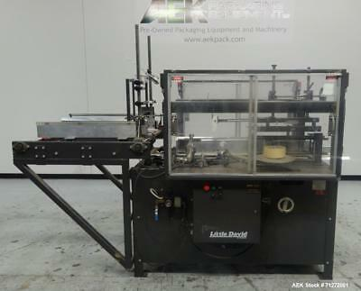 Used- Loveshaw (Little David) Model CF30T Case Erector & Bottom Sealer. Right Ha