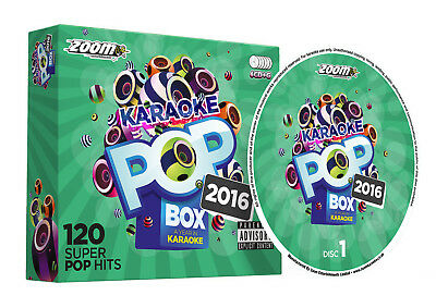 Zoom Karaoke Pop Box 2016 - 6 CD+G Set - 120 Pop Songs from the year 2016 - New!