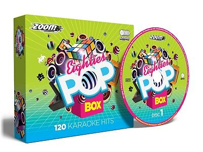 Zoom Karaoke Eighties Pop Box - 120 Classic 80s Karaoke Hits - 6 CD+G Disc Pack