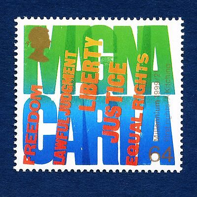 """""""Human Rights - Magna Carta"""" illustrated on 1999 Stamp - Unmounted Mint"""