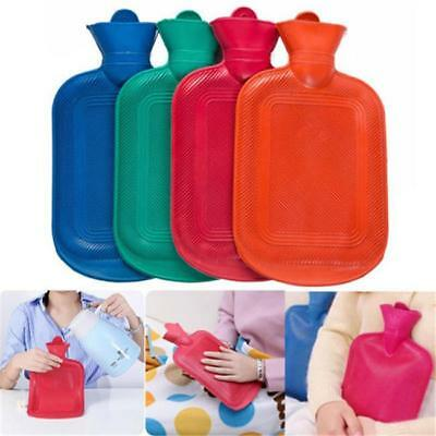 HOT WATER BOTTLE Bag Winter Soft Rubber Relaxing Heat Cold Therapy Leakproof B