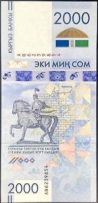 Kyrgyzstan 2,000 Som 2017 P New Comm. Unc