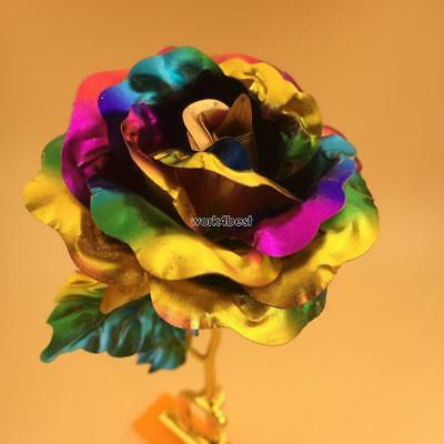 24K Gold Plated Golden Rose Flower Valentine's Day Lovers' Gift Romantic Day.