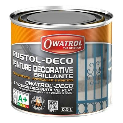 Antirouille RUSTOL-DECO - marron - 0.5 L - OWA940 - 3297971709408
