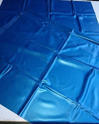 Latex, metallicblau, 0,4 mm, Rubber, Gummi, Latexlaken, neu, Latexa, Bettlaken