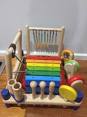 I'm Toy Melody Mix Children's Wooden 10 Musical Instruments Activity Play Set