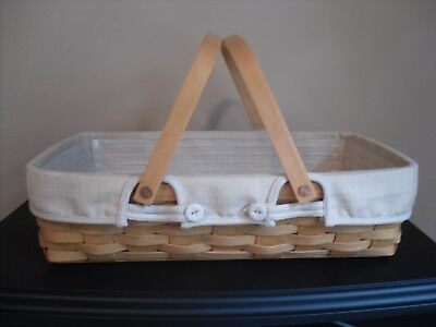 Longaberger 2003 Medium Gathering Basket, Liner, & Protector