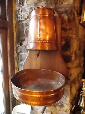 Antique French copper LAVABO hand wash sink basin garden fountain water tank
