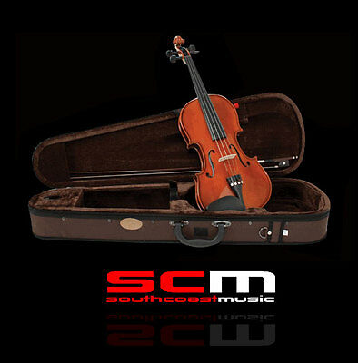 NEW STENTOR STANDARD 3/4 FULL SIZE VIOLIN OUTFIT with CASE & BOW SET UP BY PRO