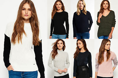New Womens Superdry Knitwear Selection - Various Styles & Colours 0712