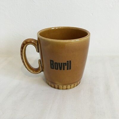 Small Earthenware Vintage Lord Nelson Pottery Honey Glazed Bovril Mug