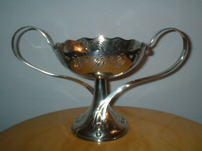 Art Nouveau Wmf Silver Plated Tazza / Comport Centerpiece