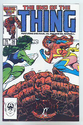 Thing #36 NM+ Byrne, Neary, She-Hulk, New Ms Marvel, Last Issue