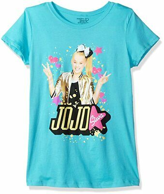 Nickelodeon Girls Jojo Siwa Girl's Sizes 7-16 Short Sleeve Blue T-Shirt