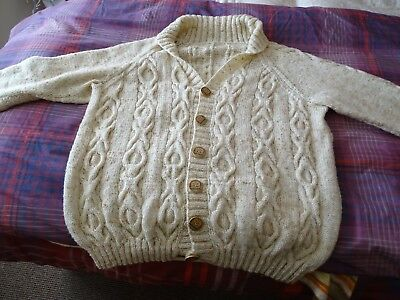 Gents Hand Knitted Arran Cardigan