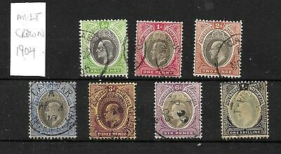 Southern Nigeria, KEVII 1904 definitives to 1/- used Mult Crown (5661)