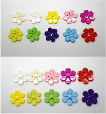 N.2 Huge Large Flower Sew-On Snap Fasteners Poppers Italian Press Studs Plastic