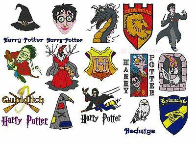 HARRY POTTER designs on a CD. Over 100 designs.