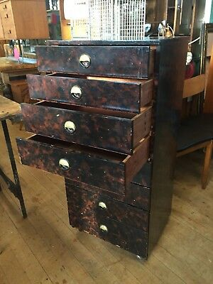 Chest of Drawers Vintage Multi Drawers Tall Chest mid century modern