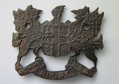 Post Medieval London Coat of Arms with Dragon Supporters 17th - 19th centuries