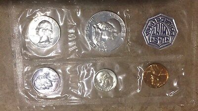 1962 US Mint Silver Proof Set - 5 Coin set without envelope - Free Shipping!