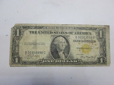 1935-A Us $1 Silver Certificate North Africa Note