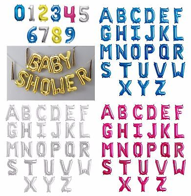 Self Inflating Giant Foil Number & Letters A-Z 0-9 Air Balloons Birthday ballons