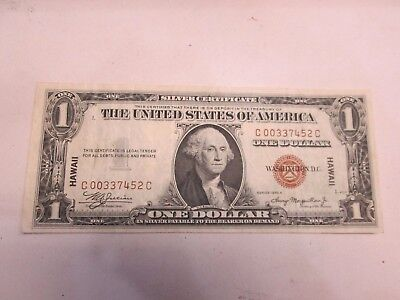 1935-A Us $1 Silver Certificate - Hawaii Note