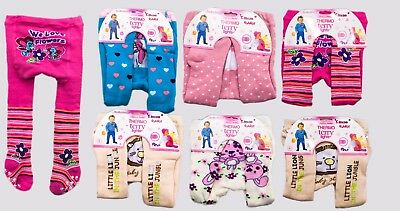 Baby Girl Thermo Terry Tights Kid Leg Warmers 2-3month, 4-5month,6-12month