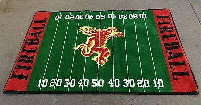 Fireball Cinnamon Whiskey *football* Rug  5' X 8'