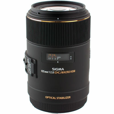 Sigma 105mm F2.8 EX DG OS HSM Macro Lens for Canon DSLR Cam US Authorized Dealer
