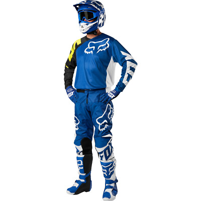 2018 Fox Racing Mens 180 Race MX ATV Jersey & Pant Combo Blue