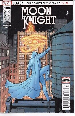 Marvel Comics MOON KNIGHT #188 first printing includes Cable value stamp