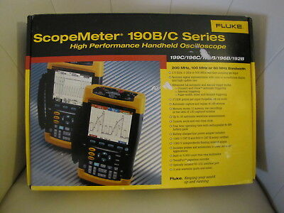 Fluke 192B Digital Oscilloscope ScopeMeter w/Probes and Charger Great Condition