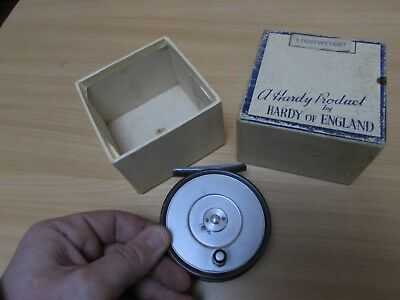 rare vintage early hardy alnwick LRH lightweight trout fly fishing reel + box