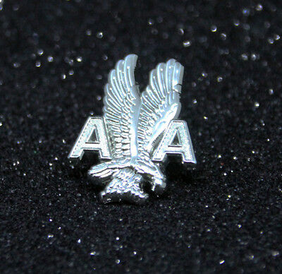Pin AA American Airlines metal pin with Eagle Ground Staff Service pin 1 inch