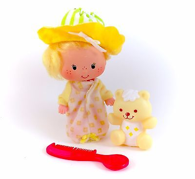Vintage Strawberry Shortcake Butter Cookie Doll & Jelly Bear Pet 100% COMPLETE