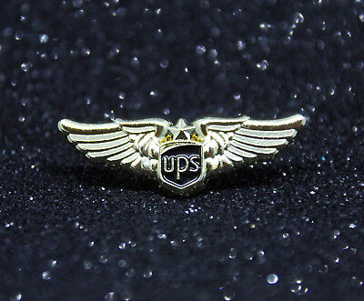 WING Pin UPS AIRLINES WINGS gold for Pilot Airline Crew Courier Delivery Guy
