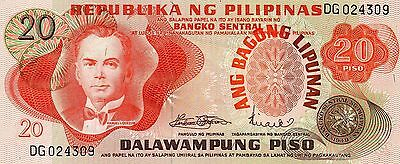 PHILIPPINES 20 Pesos ND 1974 to 1985 P155a UNC Banknote