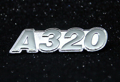 Pin Airbus A320 XXL LOGO Silver for Pilots Crew 320 60mm! for crewbag