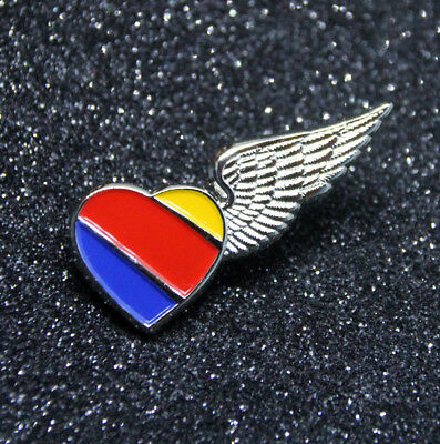 WING Pin SOUTHWEST AIRLINES Heart WINGS metal for Pilot Airline Crew