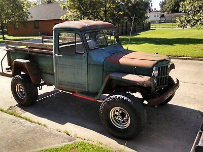 1960 Willys 442 4X4 Chrome 1960 Willys Jeep Truck 4X4. Body and frame sit on YUKON 2K front and rear end.